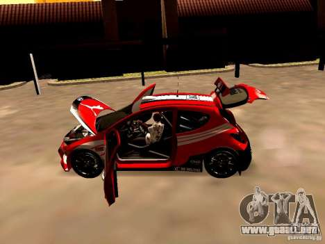 Peugeot 207 S2000 Puma para GTA San Andreas vista hacia atrás