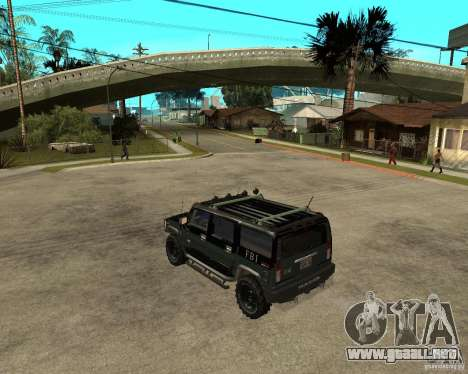 FBI Hummer H2 para la visión correcta GTA San Andreas