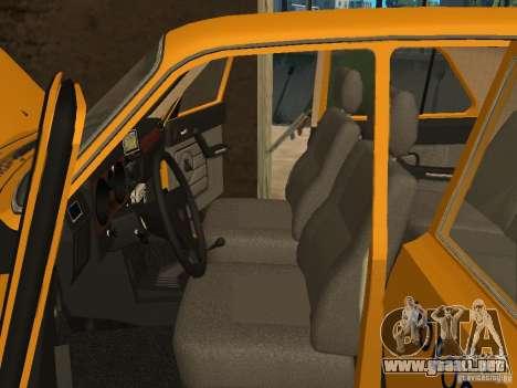 GAZ 31029 Taxi para visión interna GTA San Andreas
