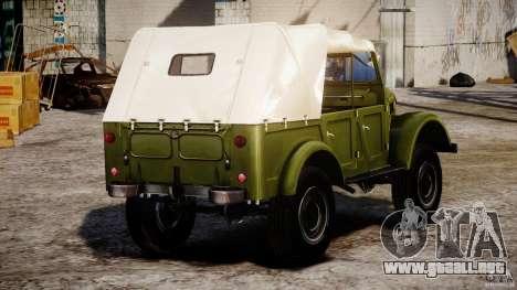 Gaz-69A, 1965 para GTA 4 vista lateral