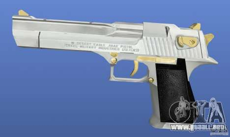 Desert Eagle Retex 1.2 Chrome and Gold para GTA 4 tercera pantalla