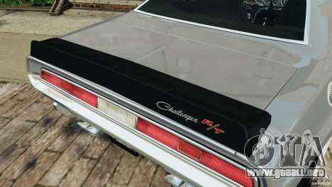 Dodge Challenger RT 1970 v2.0 para GTA motor 4