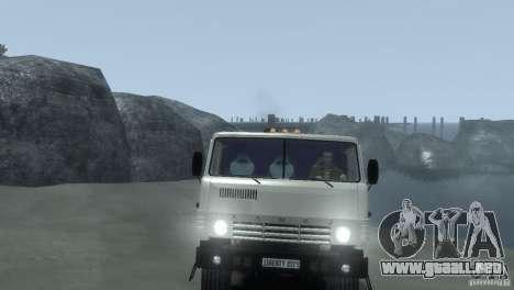 KAMAZ 4310 para GTA 4 vista hacia atrás