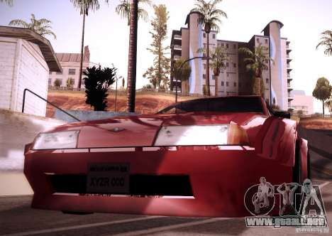 Elegy Wide Body para GTA San Andreas vista hacia atrás