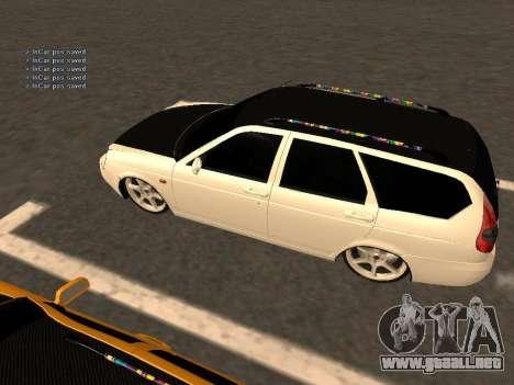 Lada Priora Hatchback para GTA San Andreas vista hacia atrás