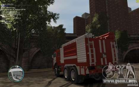 Kamaz bombero para GTA 4 visión correcta