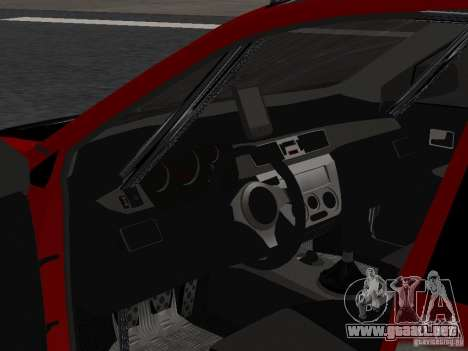 Mitsubishi Lancer Evolution 8 para GTA San Andreas vista posterior izquierda