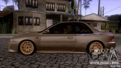 Subaru Impreza 22 para GTA San Andreas left