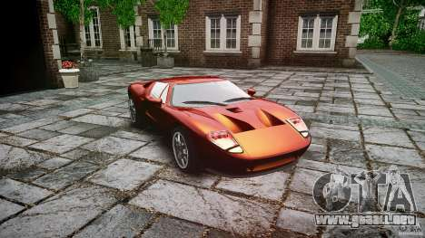 Ford GT para GTA 4 vista hacia atrás