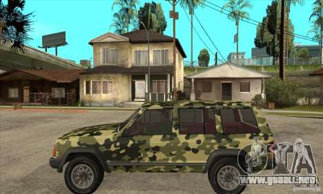 Jeep Cherokee 1984 para GTA San Andreas left