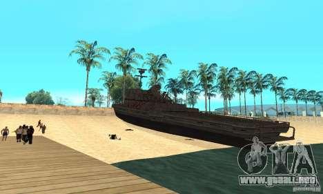 Barco para GTA San Andreas vista posterior izquierda
