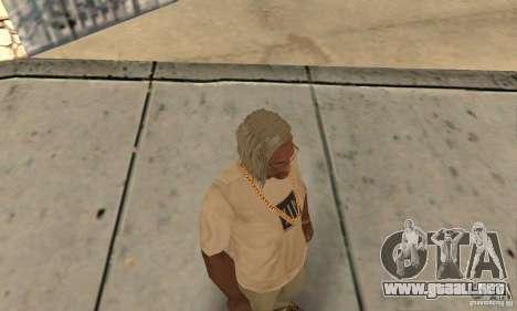 Cabello largo y rubio para GTA San Andreas tercera pantalla