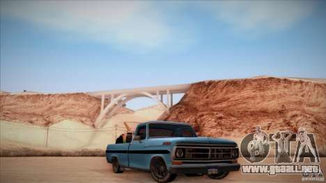 Ford F100 XLT Custom 1971 para GTA San Andreas