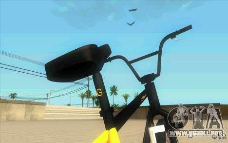 17.5 BMX para GTA San Andreas vista hacia atrás