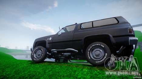Chevrolet Blazer K5 Stock para GTA 4 ruedas