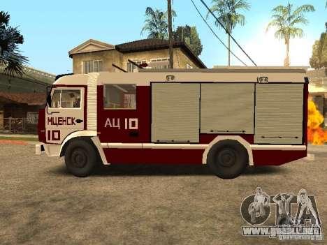 KAMAZ 43253 Rozenbauer para GTA San Andreas left