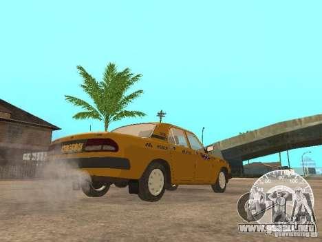 Taxi Volga GAZ 3110 para GTA San Andreas vista hacia atrás