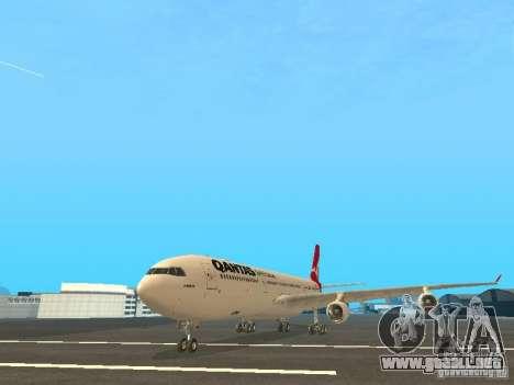 Airbus A340-300 Qantas Airlines para GTA San Andreas left