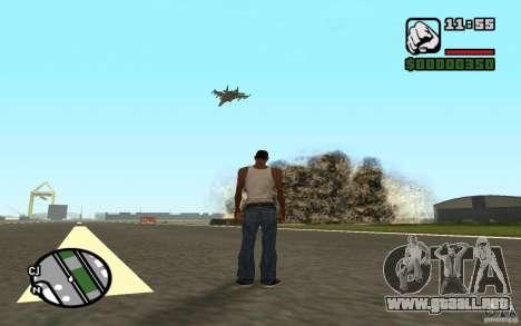 Apoyo aéreo cuando ataca. para GTA San Andreas tercera pantalla
