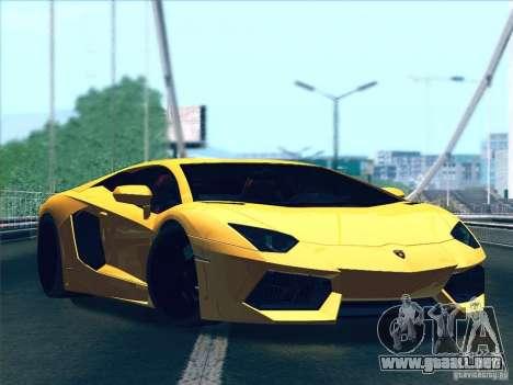 Lamborghini Aventador LP700-4 2011 V1.0 para GTA San Andreas vista posterior izquierda