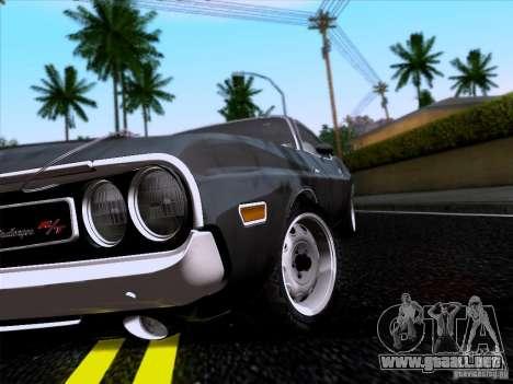 Dodge Challenger HEMI para la visión correcta GTA San Andreas