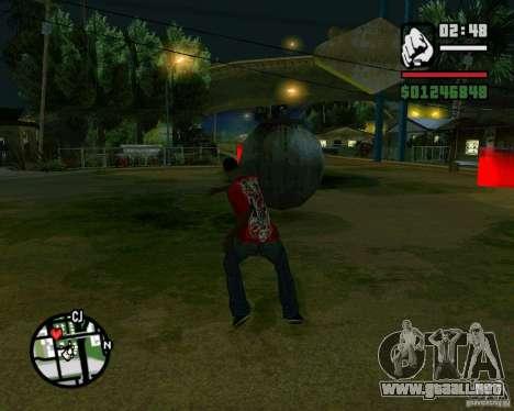 Wrecking ball para GTA San Andreas tercera pantalla