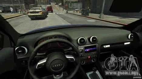 Audi S3 2006 v1.1 tonirovanaâ para GTA 4 vista interior