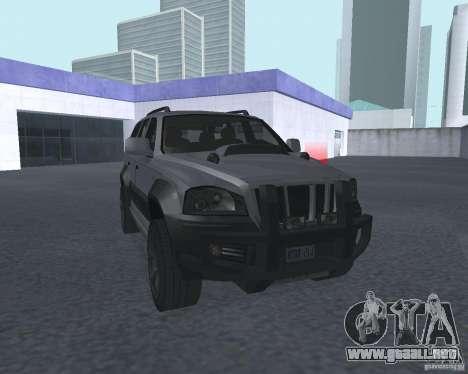 SUV de NFS para GTA San Andreas vista hacia atrás