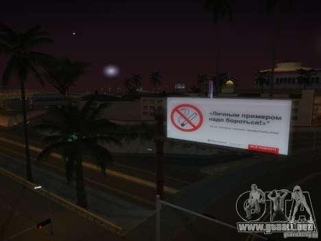 Nuevos carteles por todo el estado para GTA San Andreas quinta pantalla