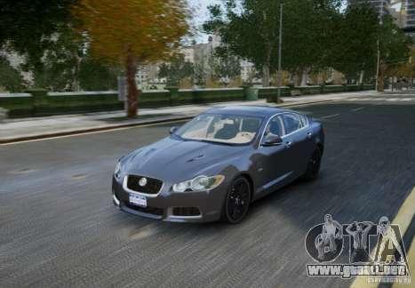 Jaguar XFR 2010 V.2.0 para GTA 4 vista superior