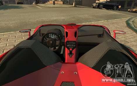 Lamborghini Aventador J para GTA 4 left