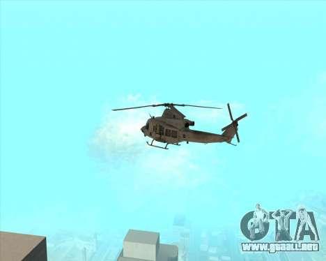 UH-1 Iroquois para la visión correcta GTA San Andreas