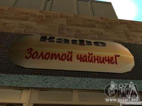 Nuevo Burgershot: ČajničeG oro para GTA San Andreas tercera pantalla