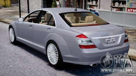 Mercedes-Benz S-Class 2007 para GTA 4 vista superior
