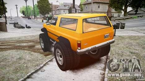 MonsterTruck para GTA 4 Vista posterior izquierda