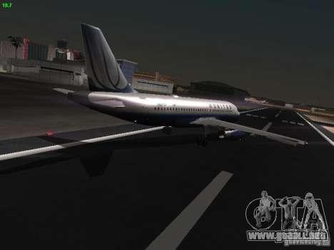 Airbus A319 United Airlines para la visión correcta GTA San Andreas
