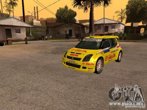 Suzuki Swift Rally para GTA San Andreas vista hacia atrás