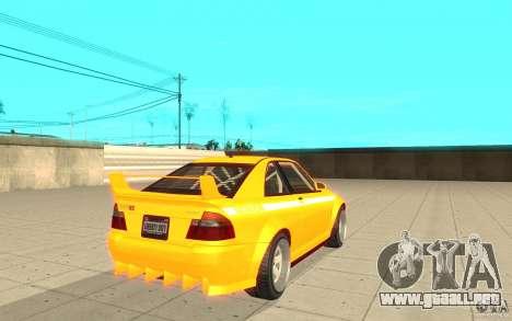 Sultan RS de GTA 4 para GTA San Andreas vista posterior izquierda