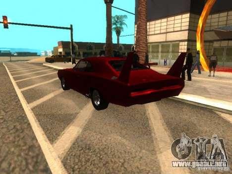 Dodge Charger Daytona Fast & Furious 6 para GTA San Andreas vista hacia atrás