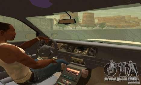 Ford Crown Victoria Utah Police para GTA San Andreas vista posterior izquierda