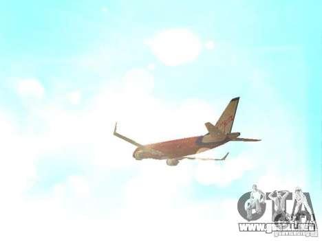 Embraer ERJ 190 Virgin Blue para vista lateral GTA San Andreas