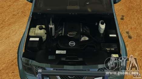 Nissan Frontier DUB v2.0 para GTA 4 vista interior