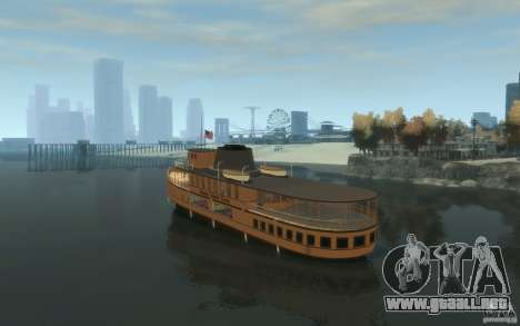 Staten Island Ferry para GTA 4 Vista posterior izquierda