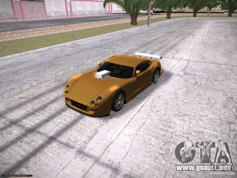 TVR Cerbera Speed 12 para vista lateral GTA San Andreas