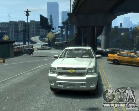 Chevrolet Avalanche Version Pack 1.0 para GTA 4 vista hacia atrás