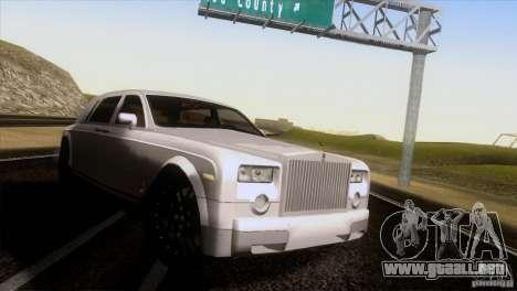 Rolls Royce Phantom Hamann para GTA San Andreas vista posterior izquierda