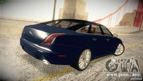 Jaguar XJ 2010 V1.0 para la vista superior GTA San Andreas