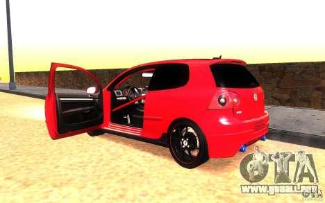 VolksWagen Golf GTI MK5 para visión interna GTA San Andreas