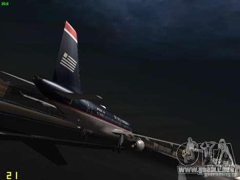 Airbus A319 USAirways para la visión correcta GTA San Andreas