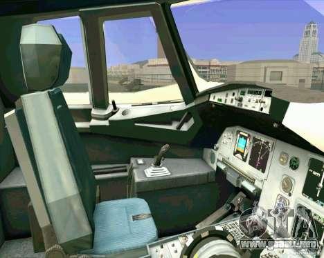 Airbus A-320 aerolínea UTair para vista lateral GTA San Andreas